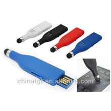 1-64gb USB 2 in 1 Mini Capacitive Stylus Pen