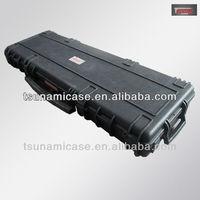 plastic waterproof Lockable sports gun case with wheels,abs gun case