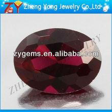 Piedras gemas rubys/corindón en bruto/facetas ruby cuentas