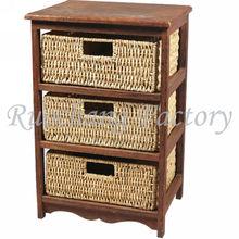 Pine Wooden Chest, White Cabinet,3 Drawer Wellington,MZ-4