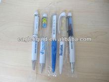 promotion gift blue glitter floater LOGO liquid floating pen