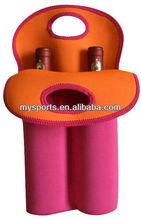 Insulated Patterned Neoprene 2 Bottle Wine Cooler Bag