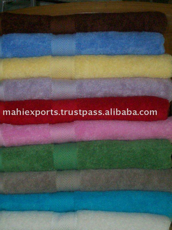 Organic cotton towel, 100% cotton terry bath towels