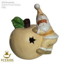 FC13235 ceramic christmas apple desk lamp