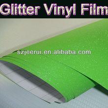 Glitter Green Vinyl Film Car Sticker Design,Carbon Fiber Vinyl Car Wrap 3m,Vinyl Sticker Car With Air Drains 1.52*30m