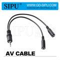 Sipu de alta calidad de entrada de av cable de salida 3.5m 2*3.5f para venta al por mayor de china