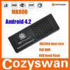 Rockchip RK3066 Dual core Cortex A9 1.6Ghz Android tv dongle mk808 mini pc MK808