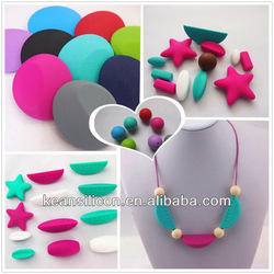 Soft Baby Teething Beads/Liquid silicone Star Chew Bead Bling