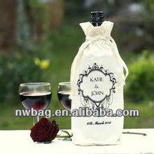 ECO Cotton Fabric Christmas Wine Gift Bags Wholesale,personalized wine gift bags,fabric wine bottle gift bag
