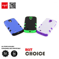 Premium hybrid shock proof silicon mobile phone case for samsung S4 in matte PC hard back cover