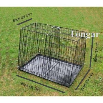 Metal Cage Crate for dog, puppy, cat, and other pets to use in Car (with 1 door)