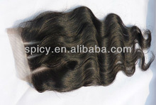 2013 Hot sale Body Wave three parting french lace closure virgin Peruvian hair lace closures