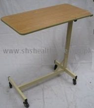 Overbed Table, Adjustable Height, Laminated Top