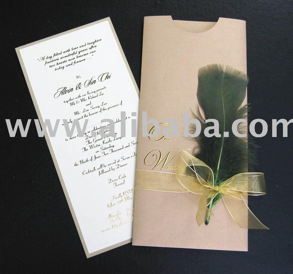 Invitaciones de boda de lujo