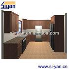 complete u-shaped kitchen cabinet