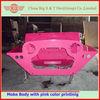original pink painted mini moke car body shell for sale