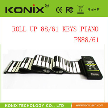 61 Keys Roll up Piano Max 128 MIDI in/MIDI out