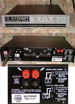 Crown MacroTech MA-2402 Power Amplifier Ma2402