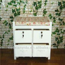 Minimalist garden shoe stool wooden storage cabinet wooden footstool