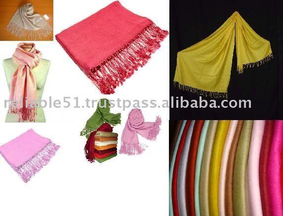 100% Rayon / Viscose (Bamboo) Pashmina Shawls