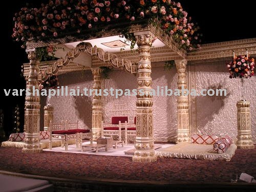 See larger image Wooden Antique Wedding Stage
