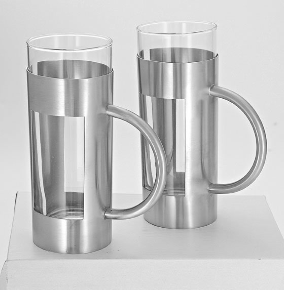 Steel Glass Set Steel Glass Beer Mug Set