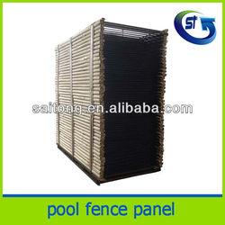 Black Aluminium pool fence