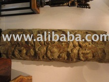 Rare Solid Teak Wood Trunk With Hand Carving Throughout