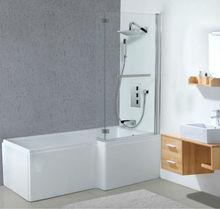 Square Acrylic Shower Bathtub with Bath Screen