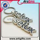 Cheap custom design metal letter keychain