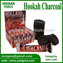 Hookah coals 33mm hard wood