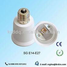 e14/e27 led light bulbs adapter ,plastic adapter light bulbs