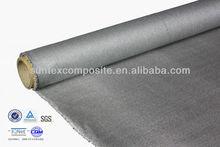 0.2mm 37oz polyurethane coated s.s fiberglass burned material