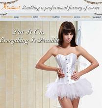 White Bridal Corset Sexy Garter