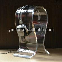 High Quality Acrylic Head Sets Clear Head Phones Display Rack