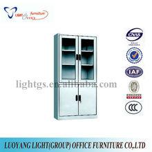 Steel cabinet with glass doors