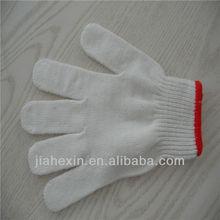Nylon / Polyester Knit gloves 25cm Nylon knitted Gloves for garden