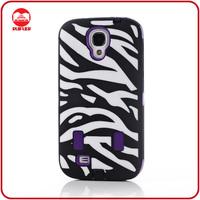 2013 New Customized Rugged Rubber Hard Hybrid Zebra Case for Galaxy S4 i9500 S IV