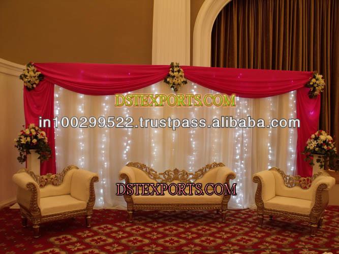 See larger image BEAUTIFUL WEDDING STAGE SET
