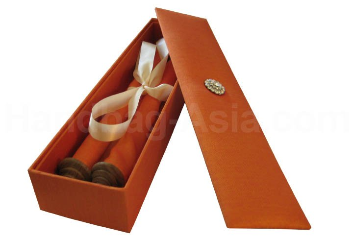 See larger image Wedding Invitation Scroll Silk Box