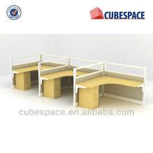 Modular Office divider L Shape Desk Steel Framed Workstation