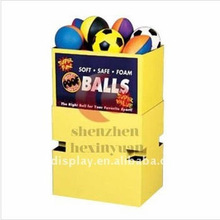 custom ball cardboard display, basketball / soccer display stand