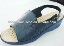 2014 summer wedge heel black sandals womens