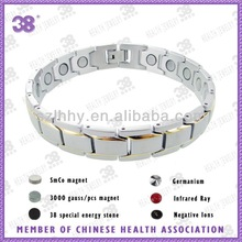 2013 Top sell 5 in 1/4 in1/3 in 1 /full magnetic elements Gold Plated Magnetic Bracelet