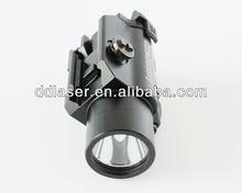 Rail Mountable Green Laser Sight LED Flashlight Combo;green laser sight