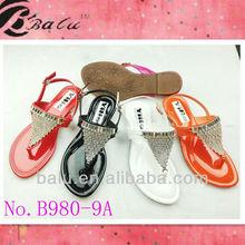 Wholesale 2013 fashion flat shoes beading Diamond Sandal