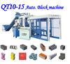 Unfire manual block making machine vibrated mobile block making machine QT10-15