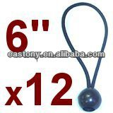 6in Ball Bungee Cord Canopy Tarp Tie Down Straps