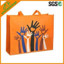 Orange Color Laminated PP Non Woven Shopping Tote Bag (PRA-897)