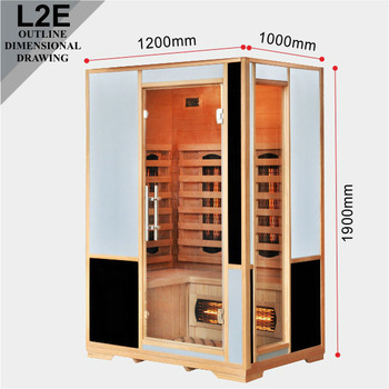 sauna room L2TE NEW hemlock sauna Infrarotkabine for home use